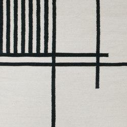 Kelim Rug Large - Black Lines | Formatteppiche | ferm LIVING