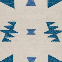 Kelim Rug Small - Blue Triangles | Formatteppiche | ferm LIVING