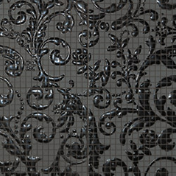 Fap Mosaici Dark Side Damasco Black Gloss | Ceramic mosaics | Fap Ceramiche