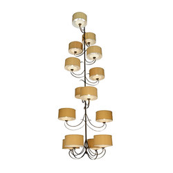 Sequoia 14 Arm Chandelier | Éclairage général | 2nd Ave Lighting