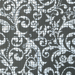 Fap Mosaici Dark Side Damasco Black & White | Ceramic mosaics | Fap Ceramiche