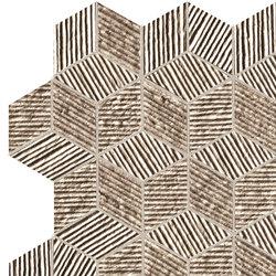 Lumina Glam Taupe Cube Mosaico | Ceramic tiles | Fap Ceramiche