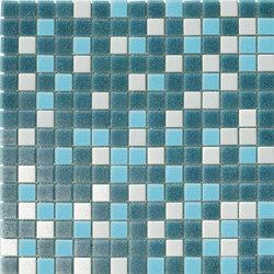 Cromie Aqua 20x20 Petrolio Mix | Mosaici vetro | Mosaico+