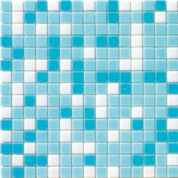 Cromie Aqua 20x20 Azzurro Mix | Mosaici vetro | Mosaico+