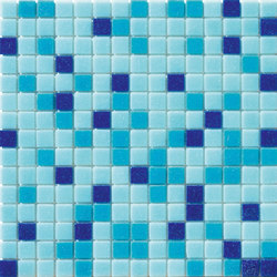 Cromie Aqua 20x20 Azzurro S. | Glass mosaics | Mosaico+