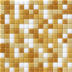 Cromie Aqua 20x20 Beige Mix | Glass mosaics | Mosaico+