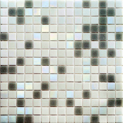 Cromie Aqua 20x20 Grigio C. Lux | Glass mosaics | Mosaico+