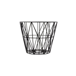 Wire Basket Small - Black | Cubos de basura / papeleras | ferm LIVING