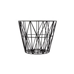 Wire Basket Medium - Black | Cubos de basura / papeleras | ferm LIVING