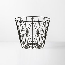 Wire Basket Large - Black | Poubelles | ferm LIVING