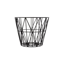 Wire Basket Large - Black | Cubos de basura / papeleras | ferm LIVING