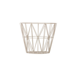 Wire Basket Small - Light Grey | Waste baskets | ferm LIVING