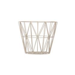 Wire Basket Medium - Light Grey | Waste baskets | ferm LIVING