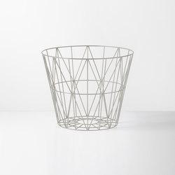 Wire Basket Large - Light Grey | Waste baskets | ferm LIVING