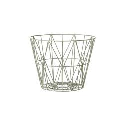 Wire Basket Medium - Dusty Green | Abfallbehälter / Papierkörbe | ferm LIVING