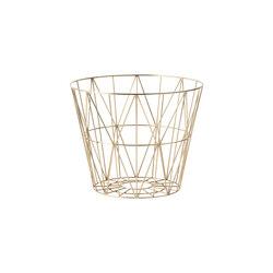 Wire Basket Small - Brass | Waste baskets | ferm LIVING
