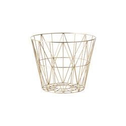 Wire Basket Medium - Brass | Waste baskets | ferm LIVING