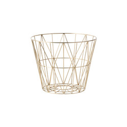 Wire Basket Medium - Brass | Abfallbehälter / Papierkörbe | ferm LIVING