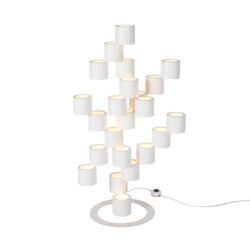 Twister white floor lamp | Iluminación general | Tristan Frencken