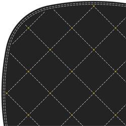 Stitch grey ochre 3.5 x 3.5 | Alfombras / Alfombras de diseño | Tristan Frencken