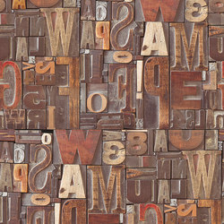 Letras De Madera | Wall coverings / wallpapers | LONDONART s.r.l.