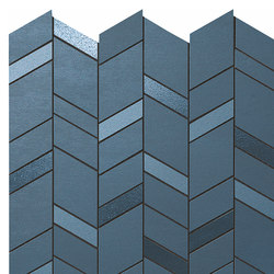 Mek blue mosaico chevron | Ceramic tiles | Atlas Concorde