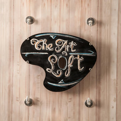 Wire Hanging Art Sign | Pinces à verre | Gyford StandOff Systems®