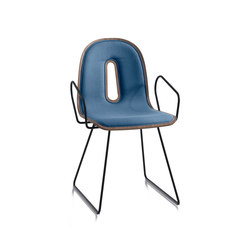 Gotham Woody Sled | P I | Visitors chairs / Side chairs | CHAIRS & MORE