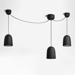Chains | Simple Pendant Lamp 3 Units | Suspended lights | Petite Friture
