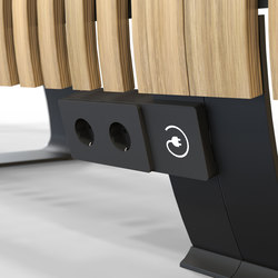 Radius Charger  | Schuko sockets | Green Furniture Concept