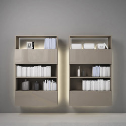 Contatto | Bookcase With Doors | Shelving | Estel Group