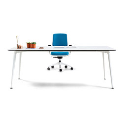 Twist Operative | Straight Desk | Tables collectivités | actiu
