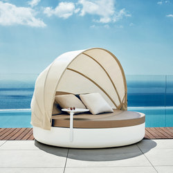 Ulm daybed fixed backrest | Seating islands | Vondom