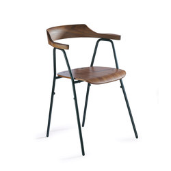 4455 Chair Walnut | Visitors chairs / Side chairs | Rex Kralj