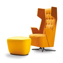 Embrace Grand Relax | Armchair & Pouf | Sillones lounge | Estel Group