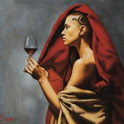Wine tasting 1 | Wall art / Murals | Inkiostro Bianco