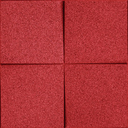 Shapes - Blocks (Red) | Baldosas de corcho | Architectural Systems