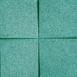 Shapes - Blocks (Turquoise) | Cork tiles | Architectural Systems