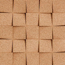 Shapes - Checkers (Natural) | Cork tiles | Architectural Systems