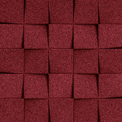 Shapes - Checkers (Bordeaux) | Cork tiles | Architectural Systems