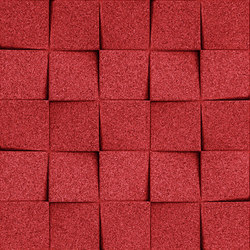 Shapes - Checkers (Red) | Dalles de liège | Architectural Systems