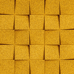 Shapes - Checkers (Yellow) | Dalles de liège | Architectural Systems
