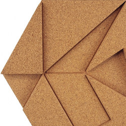 Shapes - Pinwheel (Natural) | Cork tiles | Architectural Systems
