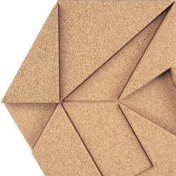 Shapes - Pinwheel (Ivory) | Cork tiles | Architectural Systems