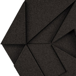 Shapes - Pinwheel (Black) | Cork tiles | Architectural Systems