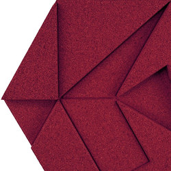 Shapes - Pinwheel (Bordeaux) | Cork tiles | Architectural Systems