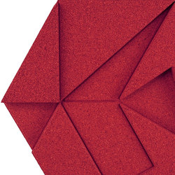 Shapes - Pinwheel (Red) | Dalles de liège | Architectural Systems