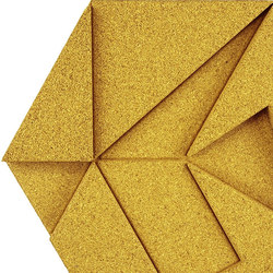 Shapes - Pinwheel (Yellow) | Cork tiles | Architectural Systems
