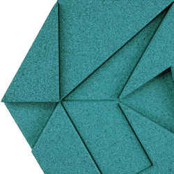 Shapes - Pinwheel (Turquoise) | Rivestimenti pareti | Architectural Systems
