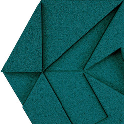 Shapes - Pinwheel (Emerald) | Baldosas de corcho | Architectural Systems